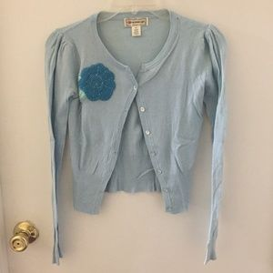 One Step Up Girls Cardigan Blue Flower Size S